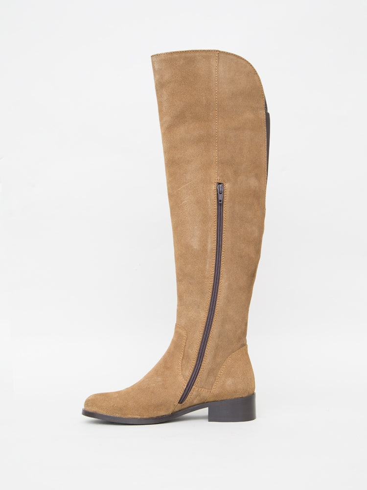 Linden Boot in Camel Suede  in Camel by Oak