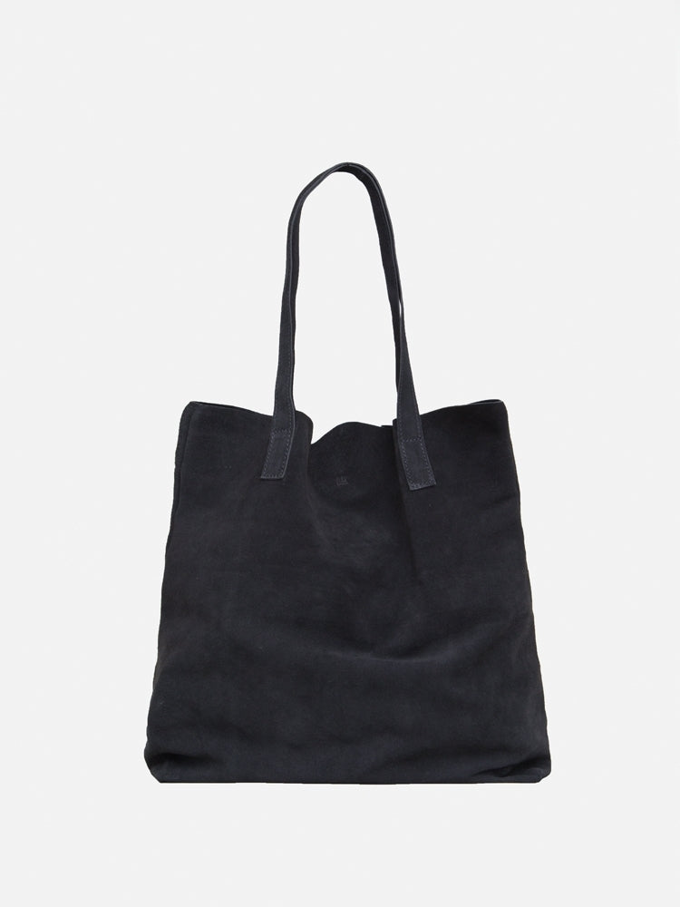Load image into Gallery viewer, Oak Monitor Tote in Black Suede