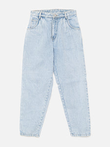 Oak Pleated Baggy Jean in Blowout Wash in Blowout Wash by Oak OOS