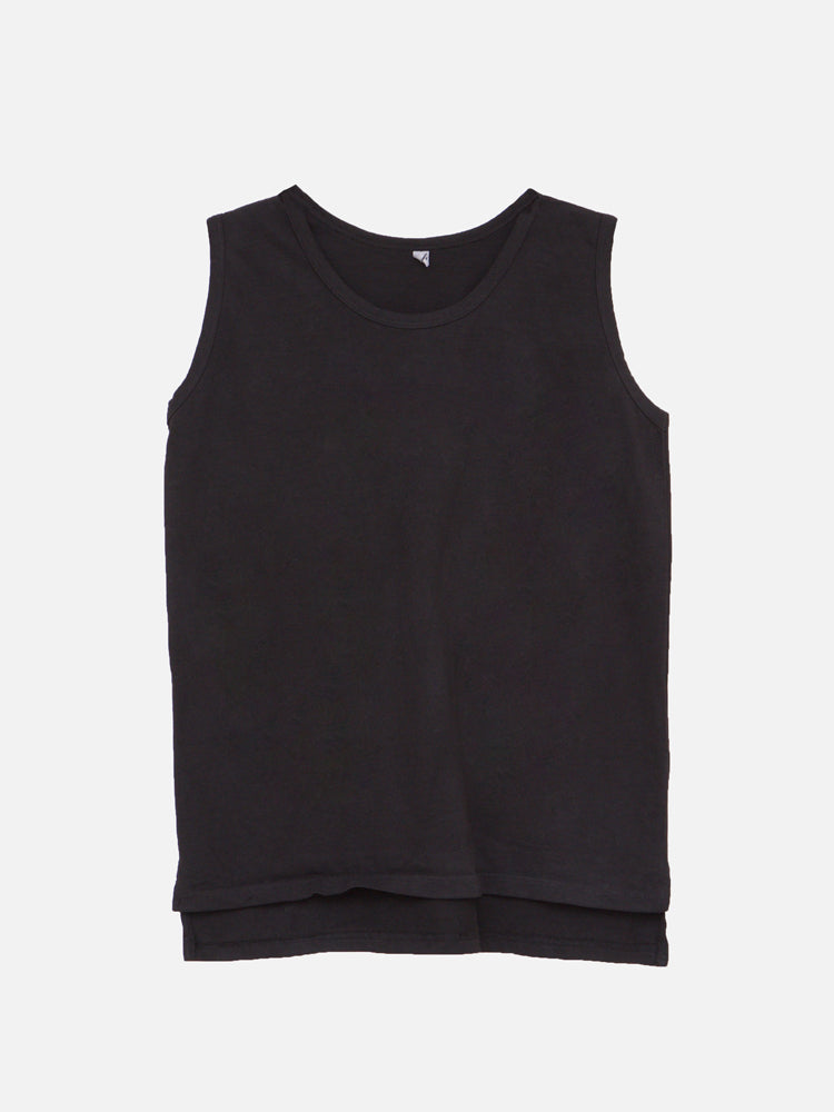 Wide Strap Tank in Black by OAK