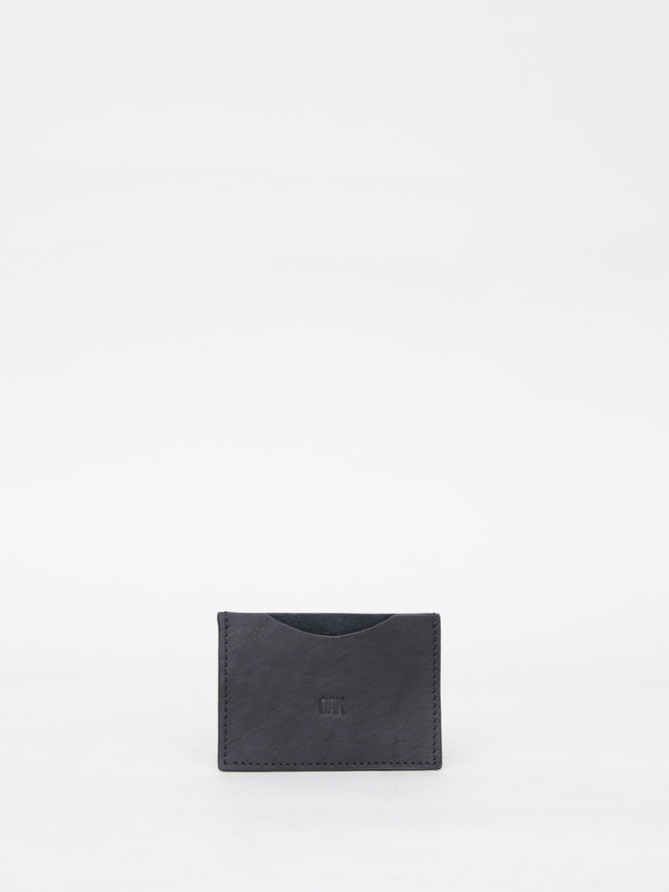 The Varet Card Holder by OAK in black leather