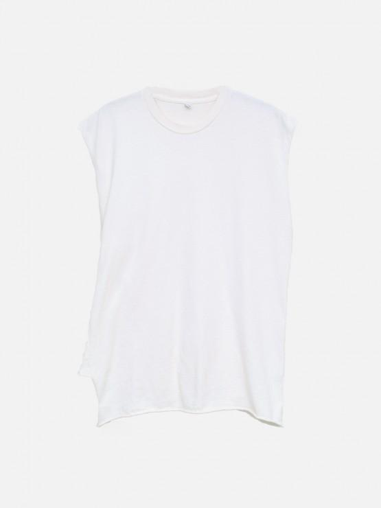 Twisted Muscle Tee in Bone by Oak