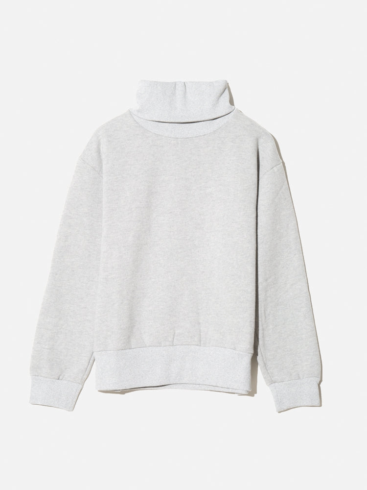 Oak Turtleneck Sweatshirt in Heather Grey