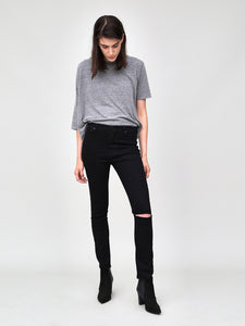 Mid Slim Jean in Black with slash by OAK in Slash Black by Oak