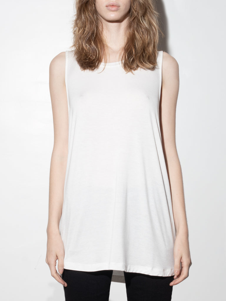 Oversized A-Line Tunic in Off White by A/OK