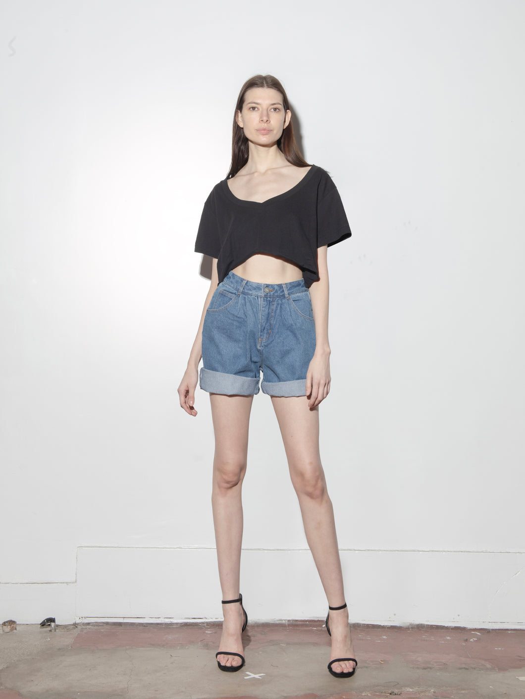Pleated Baggy Short