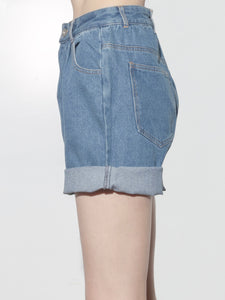 Pleated Baggy Short in Indigo by Oak OOS