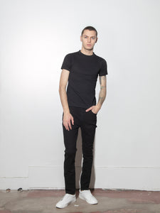 Tight Crew Tee in Black by Oak