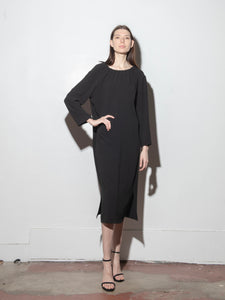 Vale Dress in Poly Crepe by Oak