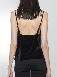 Cowl Front Cami in Black by Oak