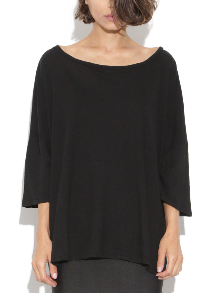 Wide Tee in Black by Oak