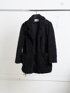 A/OK faux Shearling Jacket in black in Black by A/OK OOS