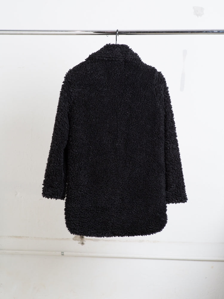 Load image into Gallery viewer, A/OK faux Shearling Jacket in black