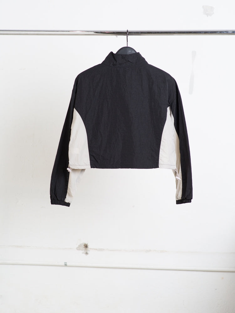 Load image into Gallery viewer, A/OK Val Track Jacket in Black/Bone