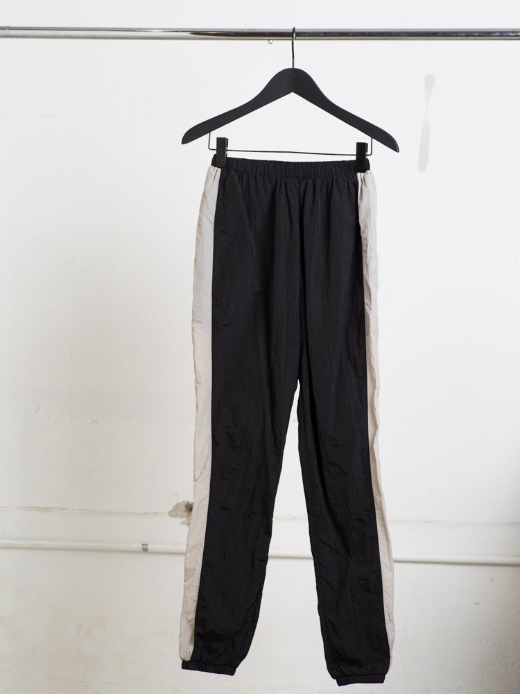 A/OK Val Track Pant in Black/Bone