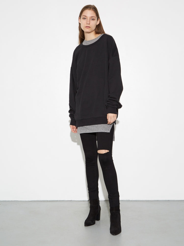 Oak Arc Sweatshirt in Washed Black