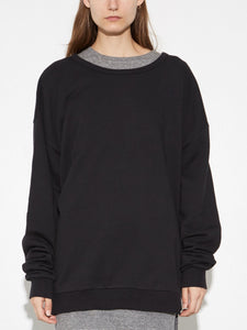 Oak Arc Sweatshirt in Washed Black in Washed Black by Oak