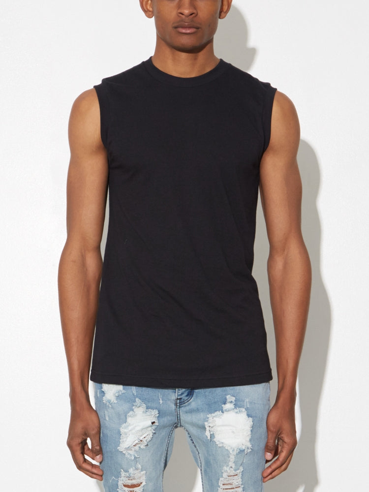 Load image into Gallery viewer, Oak Burnout Muscle Tee in Black