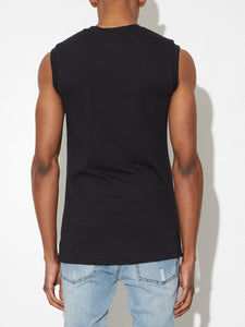 Oak Burnout Muscle Tee in Black in Black by Oak
