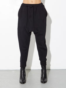 Cuffed Gusset Sweatpant in Black by OAK in Black by Oak