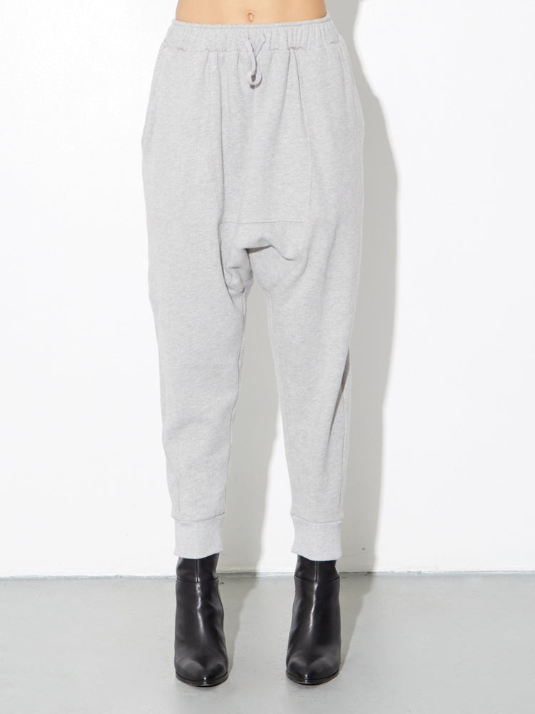 Cuffed Gusset Sweatpant in Heather Grey by OAK in Heather Grey by Oak