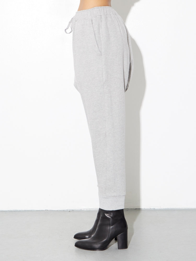 Load image into Gallery viewer, Cuffed Gusset Sweatpant in Heather Grey by OAK