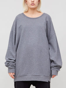 Oak Arc Sweatshirt in Heather Grey in Heather Grey by Oak