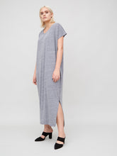 Load image into Gallery viewer, Side Pleat Box Maxi in Heather Grey by OAK