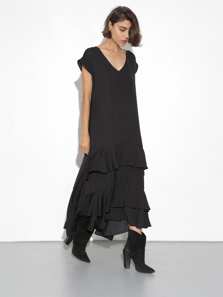 Load image into Gallery viewer, Oak Devoe Dress in Black