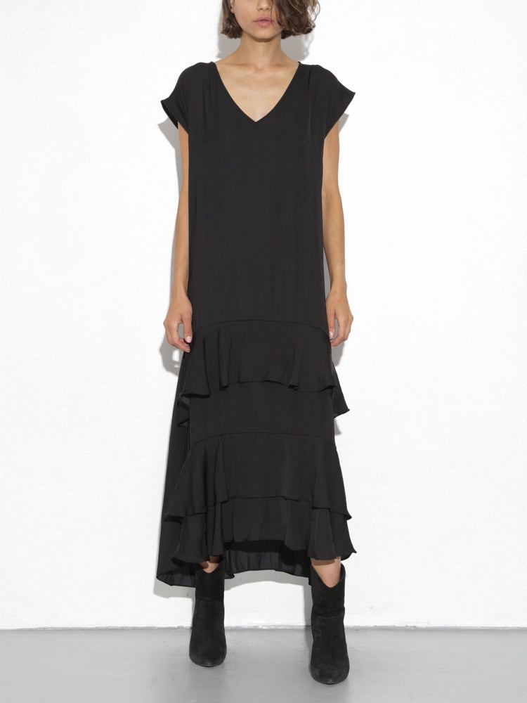 Oak Devoe Dress in Black in Black by Oak