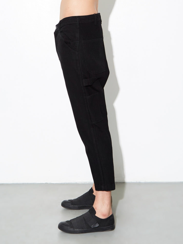 Load image into Gallery viewer, Dropped Gusset Jean in Black by Oak