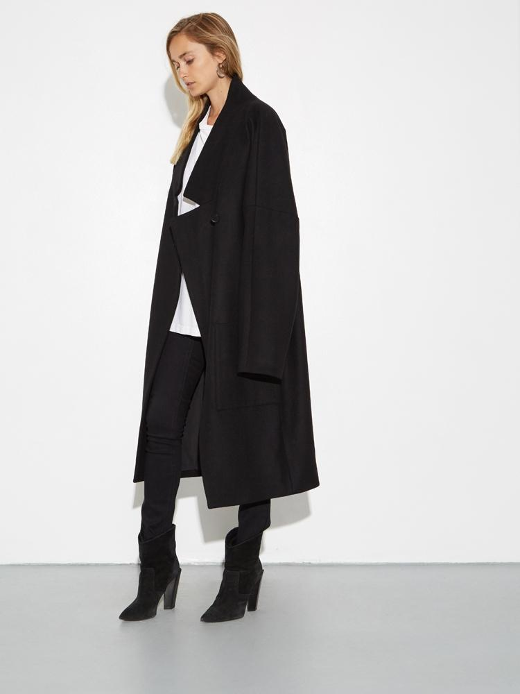 Dropped Lapel Coat