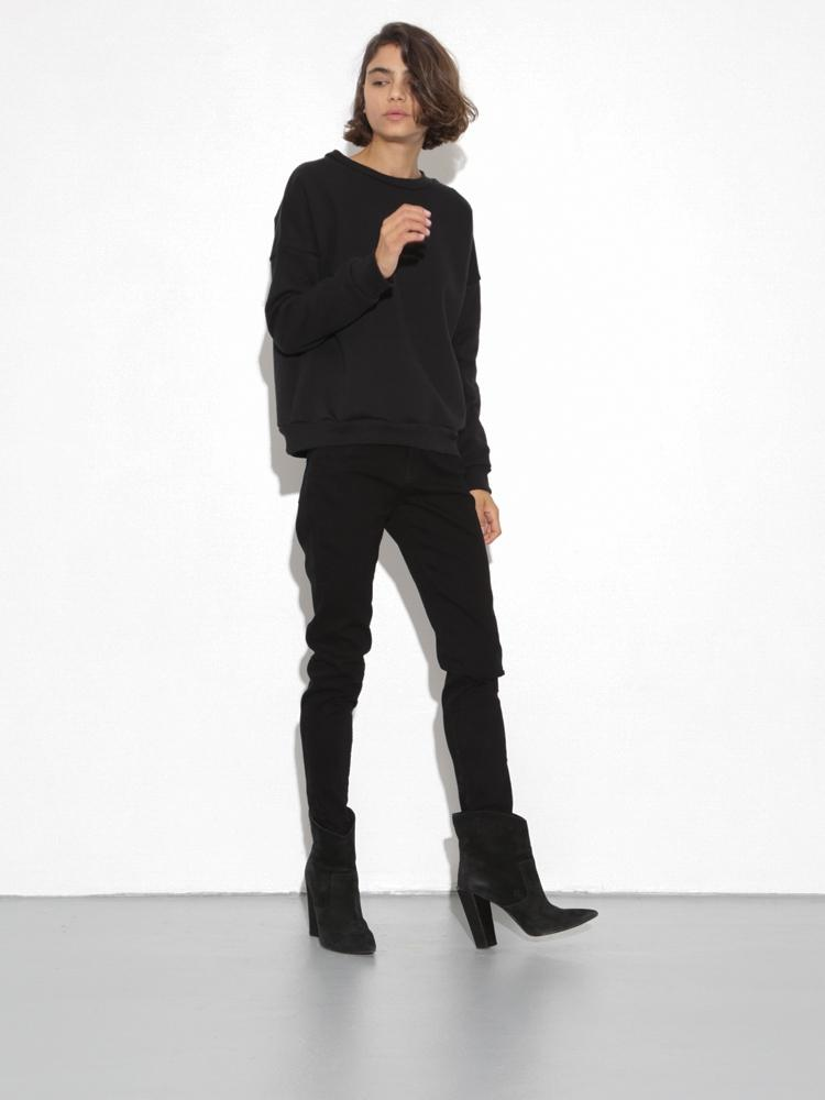Dropped Shoulder Sweatshirt in Black by Oak