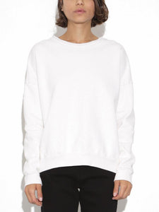 Dropped Shoulder Sweatshirt in Chalk by Oak