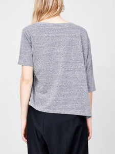 Drop Shoulder Tee in Heather Grey by Oak
