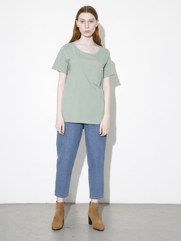 Oak Torque Tee in Atlantic Green in Atlantic Green by Oak