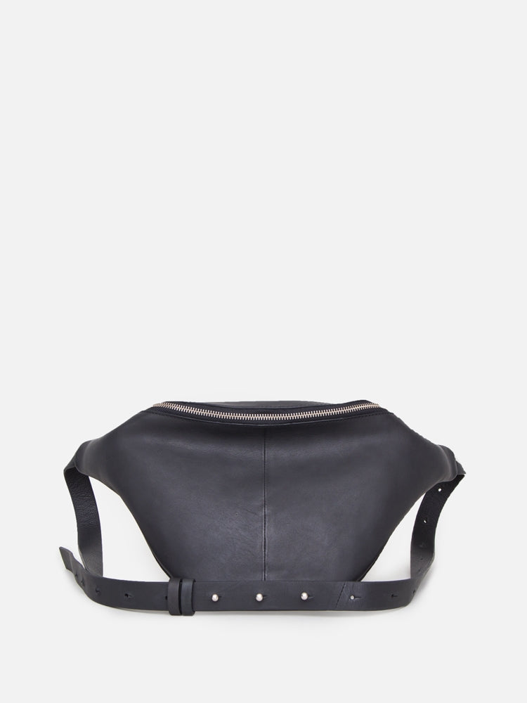 Oak Grove Fanny Pack in Black Leather