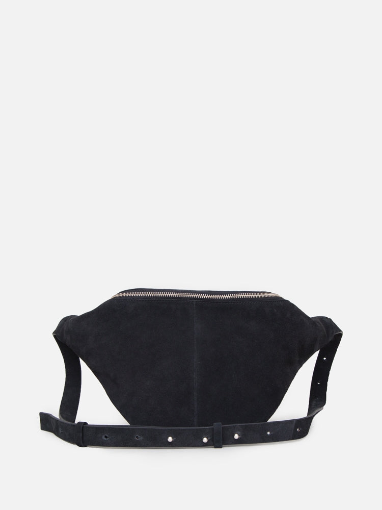 Oak Grove Fanny Pack in Black Suede