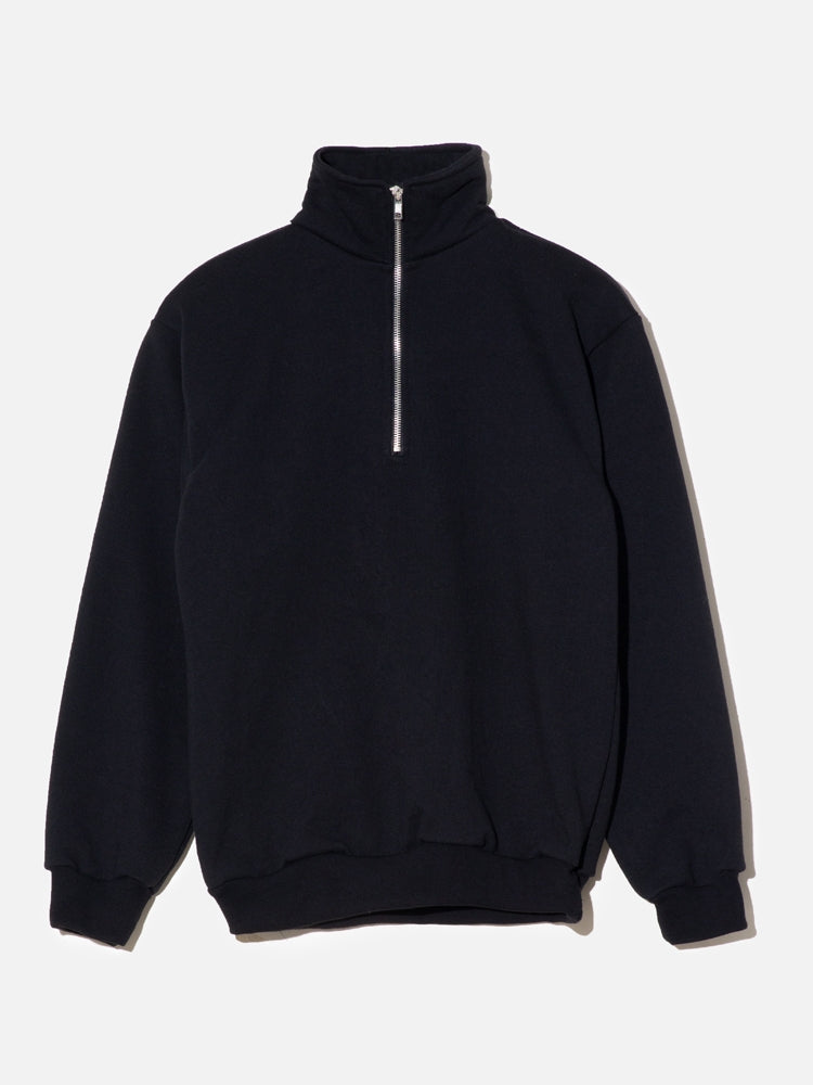 Oak Half Zip Pullover in Black