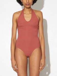 Halter Bodysuit in Brick by A/OK OOS