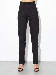 High Cut Out Jean in Black in Black by Oak