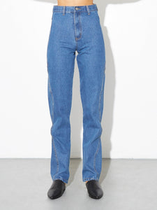 High Cut Out Jean in Indigo in Indigo by Oak
