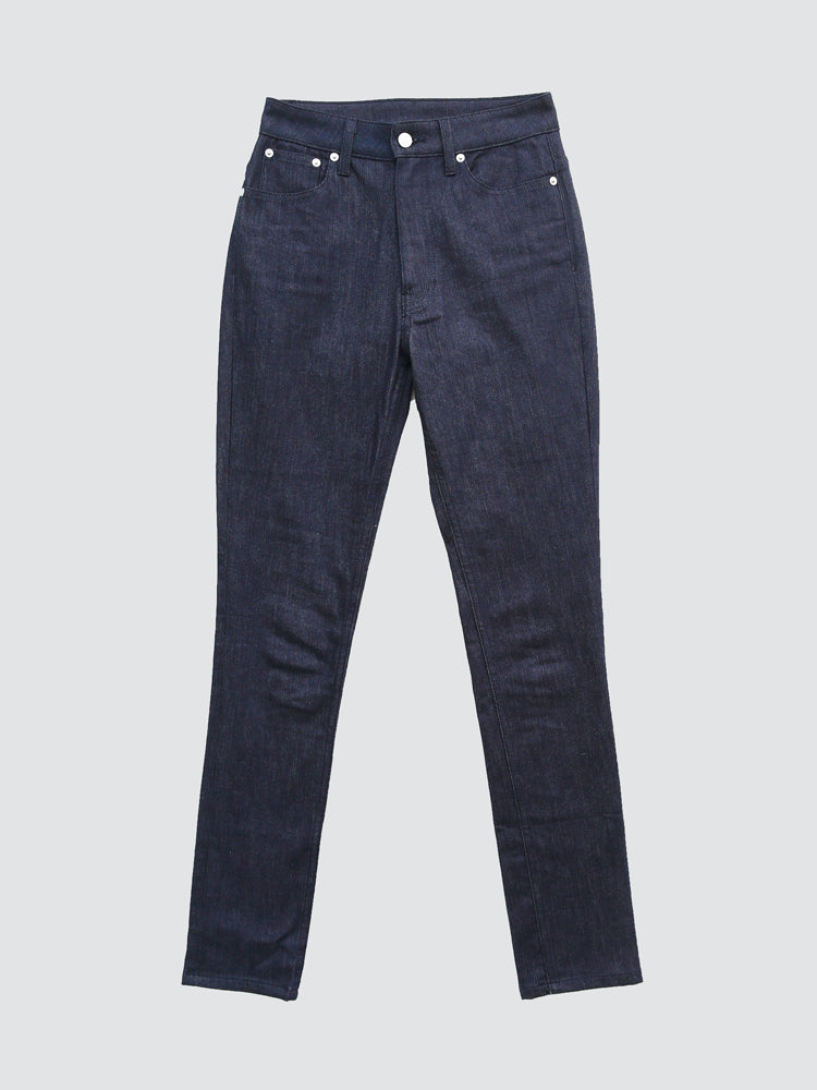 Load image into Gallery viewer, oak high skinny jean in indigo denim