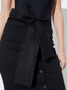 High Waisted Skirt in Black by Oak