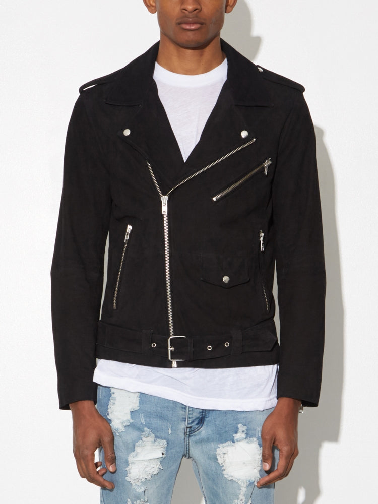 LA Suede Roamer Jacket in Black by Oak