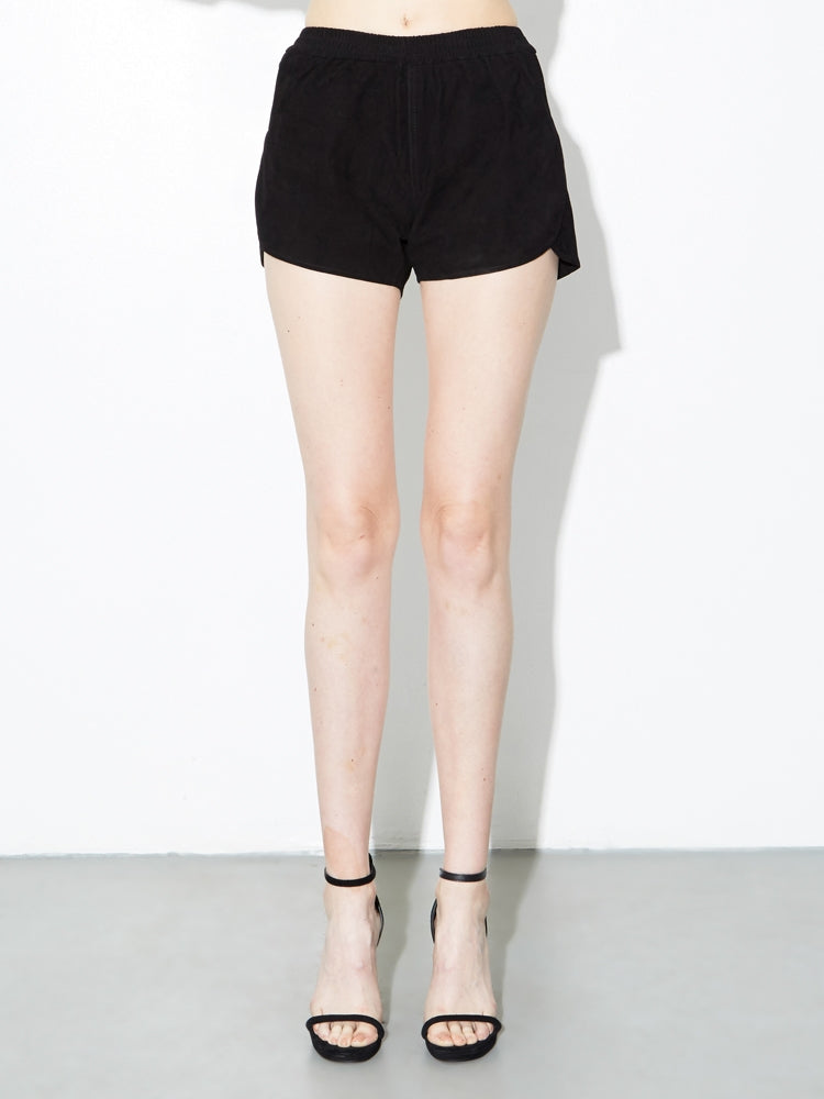 Oak LA Suede Reed Short in Black in Black by Oak