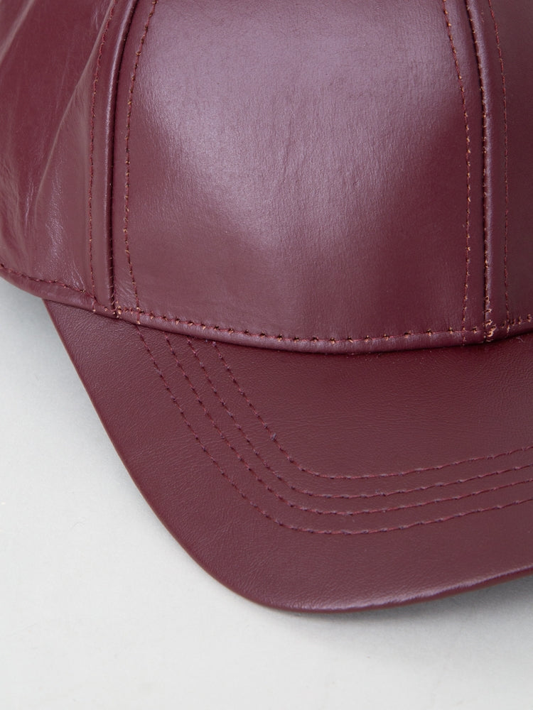 Load image into Gallery viewer, Oak Leather Ball Cap in Merlot