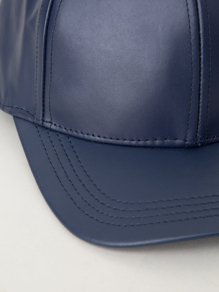 Load image into Gallery viewer, Oak Leather Ball Cap in Navy