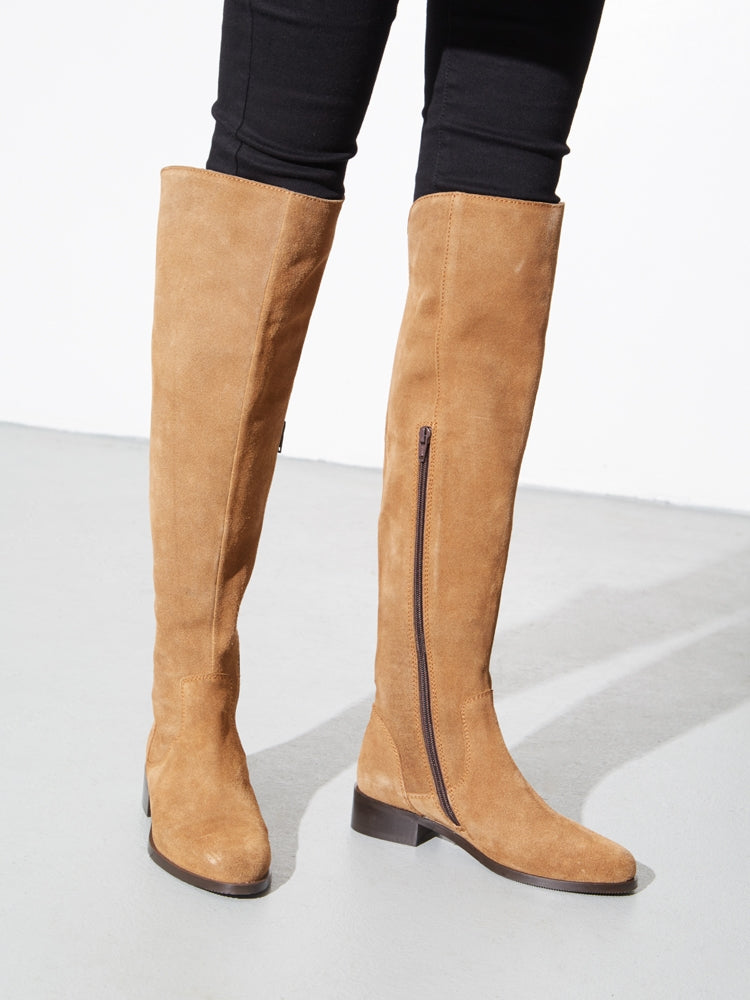 Load image into Gallery viewer, Linden Boot in Camel Suede