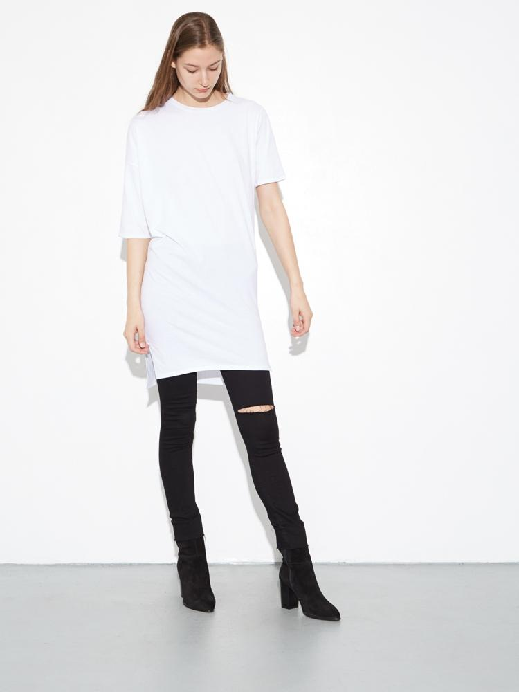 Long Drop Shoulder Tee in  by Oak
